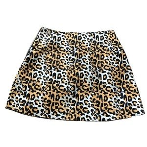NWT Minkpink abstract cheetah print skirt